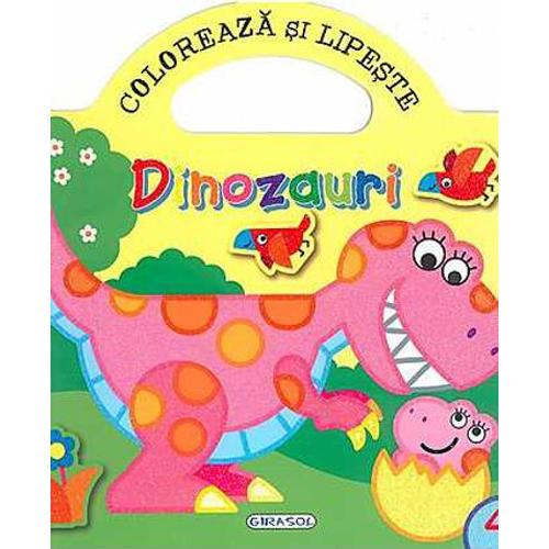Coloreaza si Lipeste - Dinozauri 4
