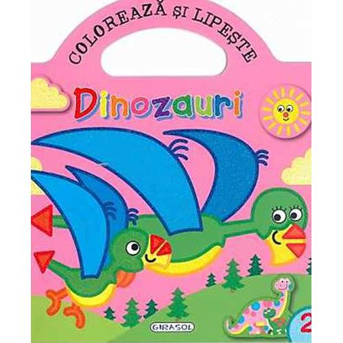 Coloreaza si Lipeste - Dinozauri 2