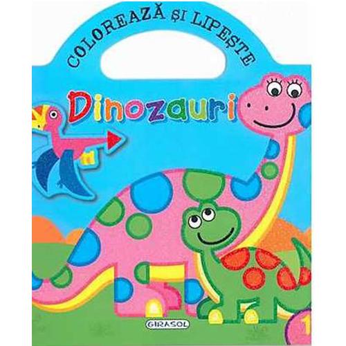 Coloreaza si Lipeste - Dinozauri 1