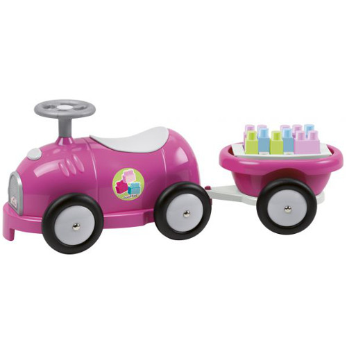 Ecoiffier Trenulet cu Vagon si Cuburi Roz