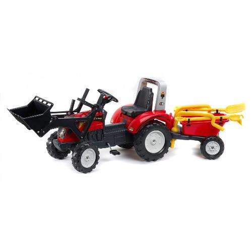 Tractor cu Remorca Ranch Trac Rosu