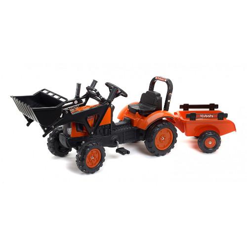 Tractor Kubota cu Remorca si Excavator