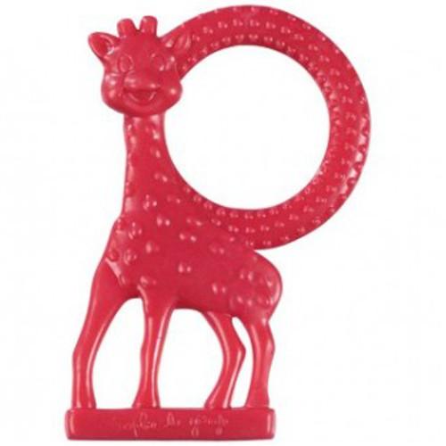 Inel Dentitie cu Aroma de Vanilie Girafa Sophie Rosu