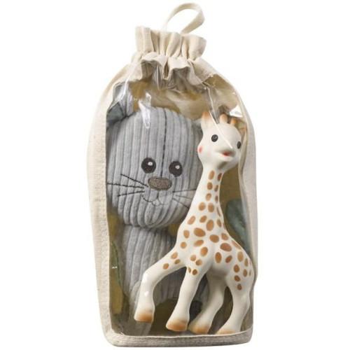 Vulli Set Pisica Lazare si Girafa Sophie