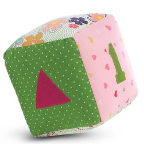 Jucarie Textila Pink Cube