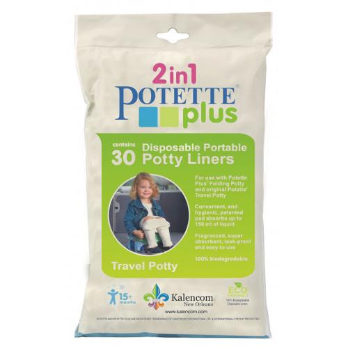 Pungi Biodegradabile de Unica Folosinta pentru Potette Plus - 30 buc/set