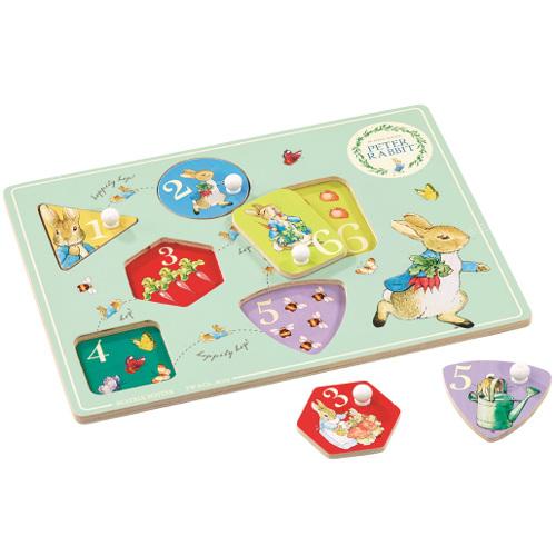 Peter Rabbit - Joc Puzzle din Lemn