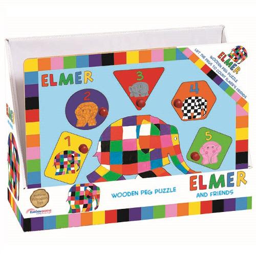 Elmer - Joc Puzzle din Lemn