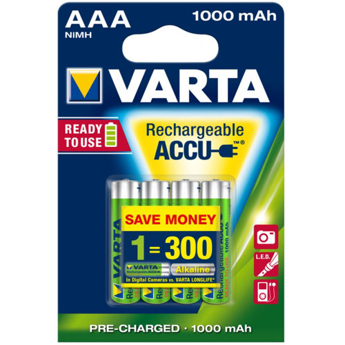 Set 4 Acumulatori AAA Ready To Use 1000 mAh thumbnail