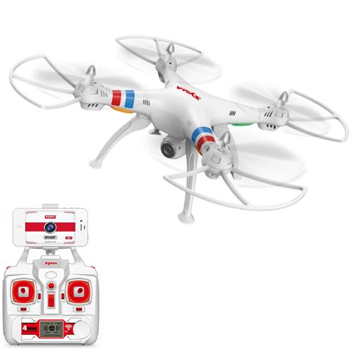 Quadcopter Explorers WiFi FPV cu Camera Video HD Alb