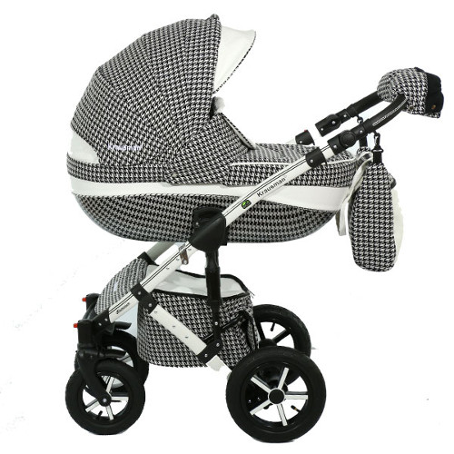Carucior 3 in 1 Poema White-Black Ed. Limitata