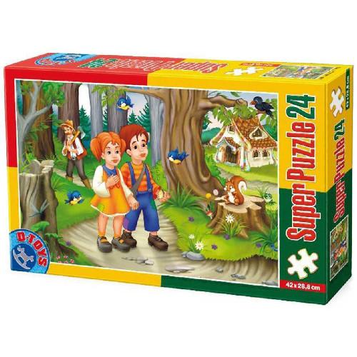 Super Puzzle 24 Piese Basme - Hansel si Gretel