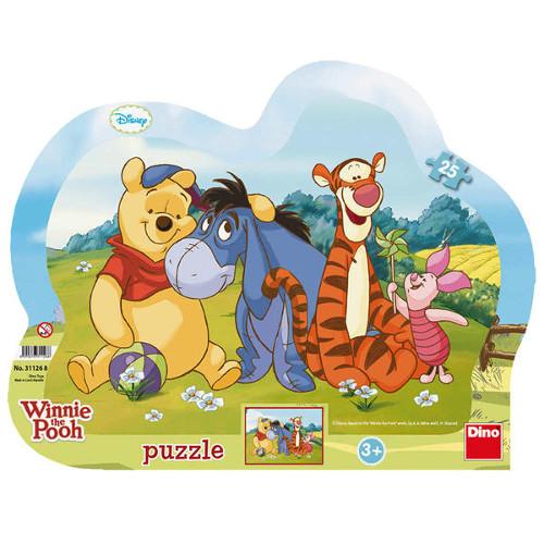 Dino Toys Puzzle cu Rama Winnie the Pooh si Prietenii 25 Piese