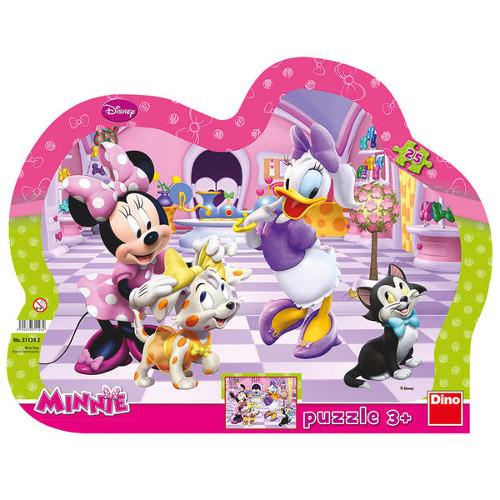 Puzzle cu Rama Minnie si Daisy la Coafor 25 Piese