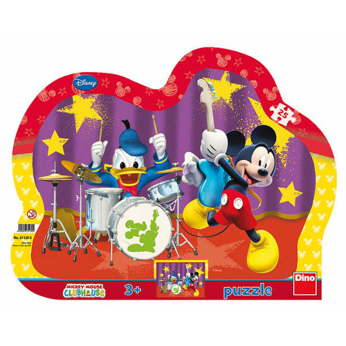 Puzzle cu Rama Mickey si Donald in Concert 25 Piese