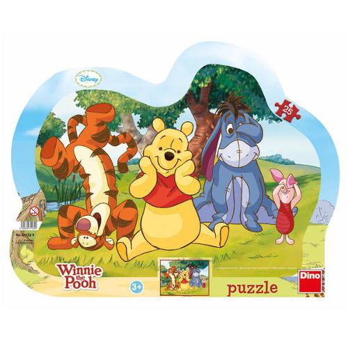 Dino Toys Puzzle cu Rama De-a V-ati Ascunselea cu Winnie 25 Piese