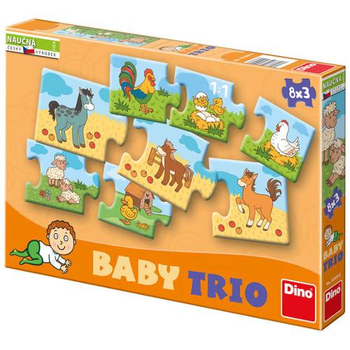 Puzzle Trio Mama cu Puii 24 Piese