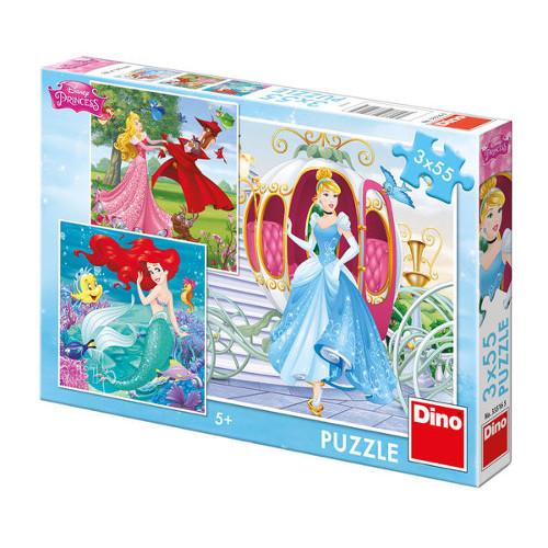 Puzzle Printesele Disney 3 x 55 Piese