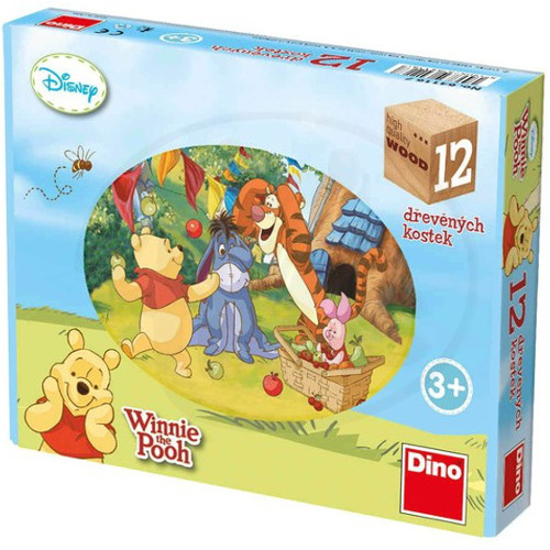 Puzzle Cubic Winnie the Pooh 12 Piese