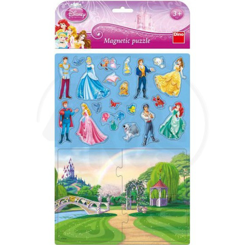 Puzzle Magnetic Disney Princess 24 Piese