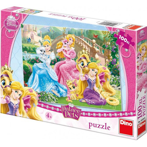 Puzzle Princess Palace Pets in Parc 100 Piese
