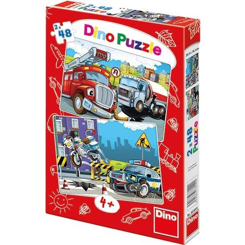 Puzzle Politia si Pompierii 2x48 Piese