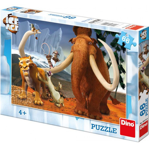 Dino Toys Puzzle Ice Age 66 Piese