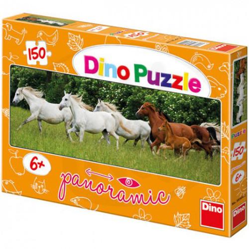 Dino Toys Puzzle Cai Alergand 150 Piese