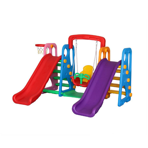 Million Baby Centru de Joaca 4 in 1 Happy Slide Multicolor