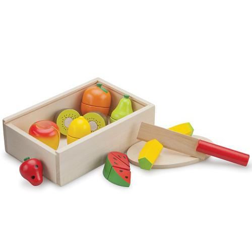 Cutie cu Fructe din Lemn