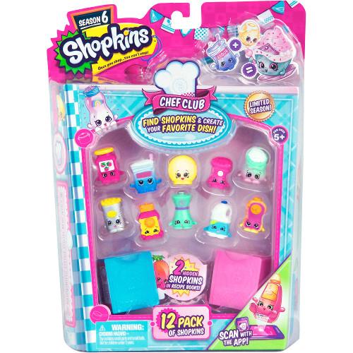 Shopkins - 12 Figurine cu Accesorii Seria 6