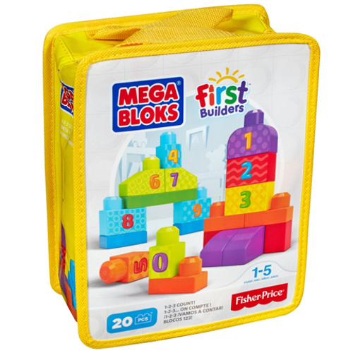 Fisher-Price Set de Construit Numere 20 de Piese Mega Bloks