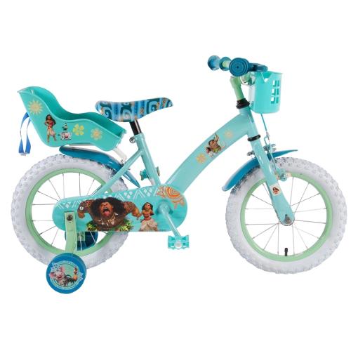 Bicicleta cu Roti Ajutatoare Vaiana-Moana, 14 inch thumbnail