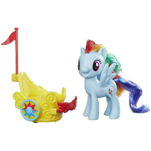 Figurina My Little Pony - Rainbow Dash Cu Vehicul Pentru Gala
