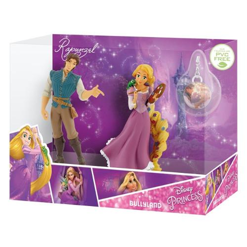 Set Figurine Rapunzel si Flynn Rider cu Medalion
