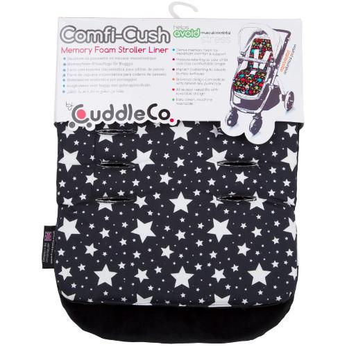 CuddleCo Saltea Carucior Comfi-Cush Black and White Stars