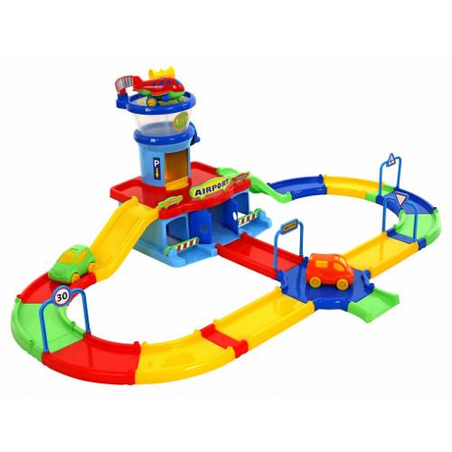 Set Joaca Aeroport cu Circuit Auto