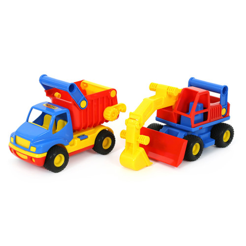 Wader Camion cu Basculanta si Excavator