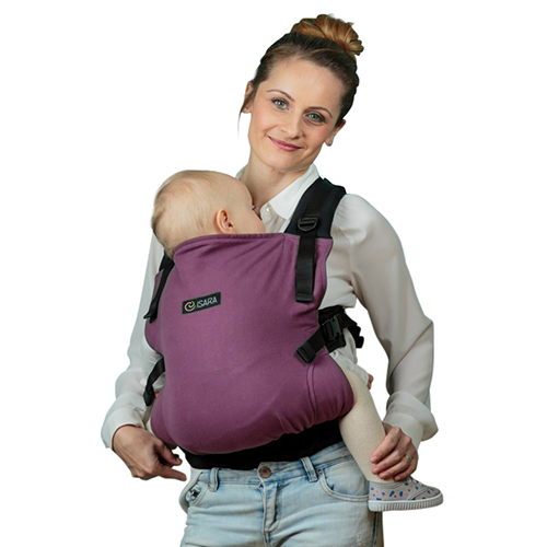 Marsupiu Toddler Half Wrap Conversion Burgundivine