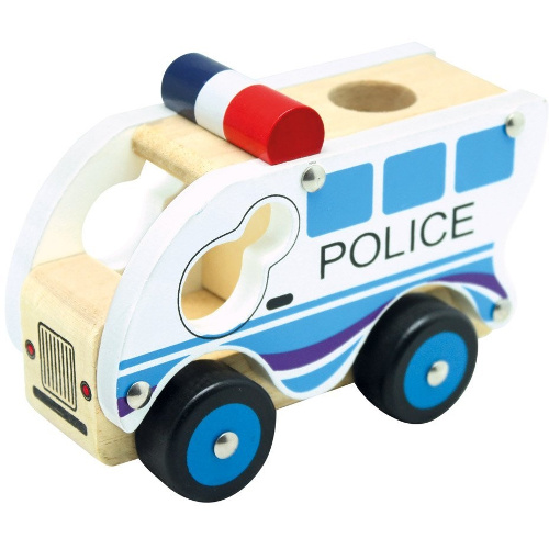 Masinuta de Politie din Lemn