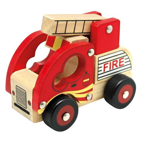 Bino Masinuta de Pompieri din Lemn