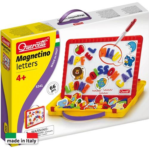 Quercetti Magnetino Letters – Set Litere Magnetice Mari