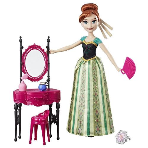 Papusa Frozen - Anna cu Masuta de Infrumusetare