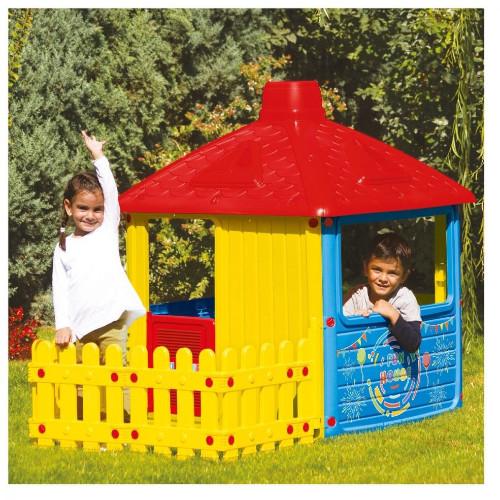 Casuta pentru Copii cu Gard City House thumbnail
