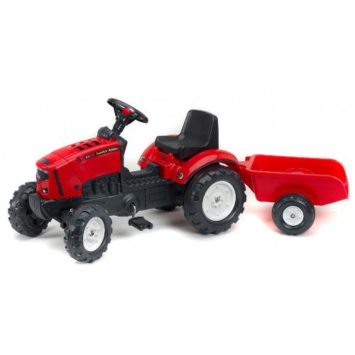 Tractor Lander Rosu Z160X cu Remorca
