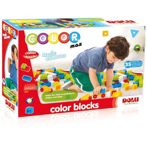 Cuburi Colorate de Construit 35 Piese