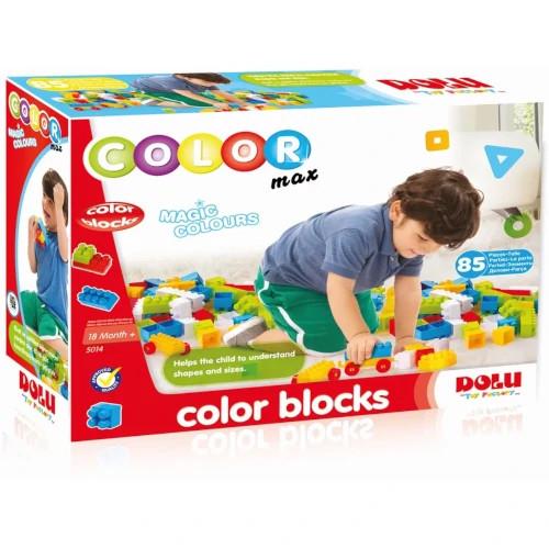 Cuburi Colorate de Construit 85 Piese