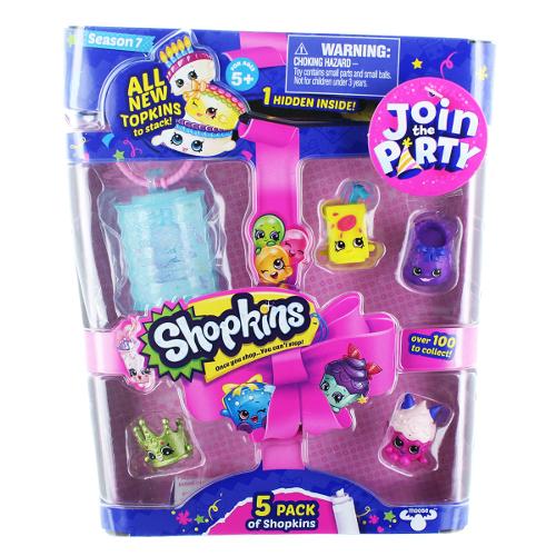 Shopkins 5 Figurine cu Accesorii Seria 7