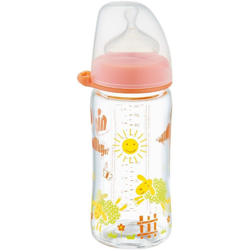 Biberon Sticla cu Gat Larg 240 ml Orange
