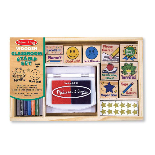 Melissa and Doug Set de Stampile la Scoala